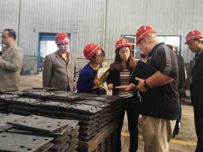 American Customer Visit for Railway Fish Plates