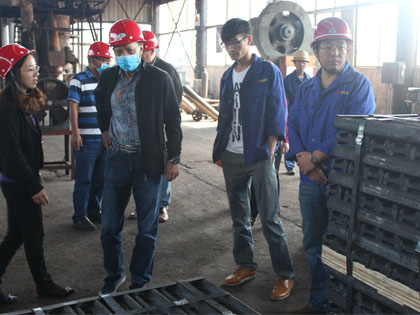 Bengle clients visit rail joints workshop