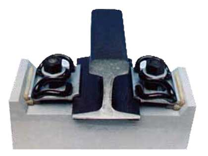 clip II or clip I fastening system