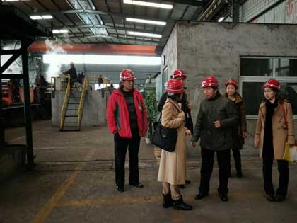 indonesia clients in agico rail fasteners factory