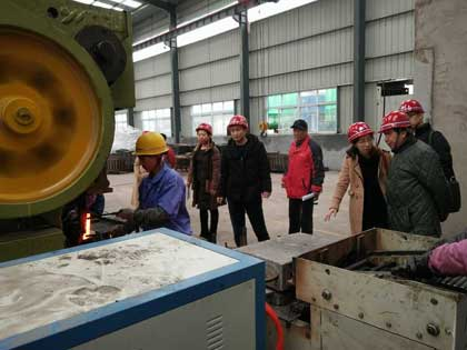 Indonesia clients visit rail clip manufacturing