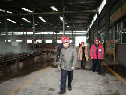 Indonesia clients visit rail joints processing