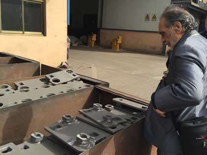Pakistan customer visit our rail fastening factory