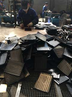 rail pad processing