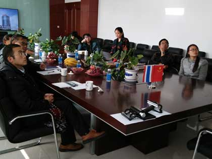 Thailand clients watch video in meeting room